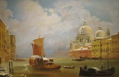 """Ippolito Caffi - """"Venice in Hiver"""" Watercolor Pictures, Romanticism, Pastels, Venice, Images, Artists, Architecture, Illustration, Painting"""