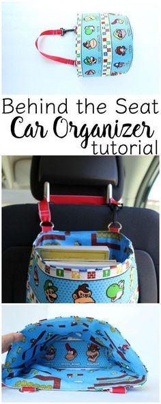 Behind Seat Car Organizer Tutorial | www.sewwhatalicia.com