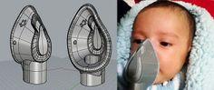 メキシコで父親が子供の為の喘息用マスクを3Dプリンターで開発!