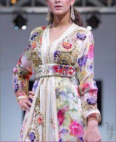 Gorgeous Moroccan takchita spring inspired colors #moroccancaftan