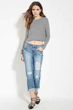 Contemporary Distressed Jeans | Forever 21 - 2000168059