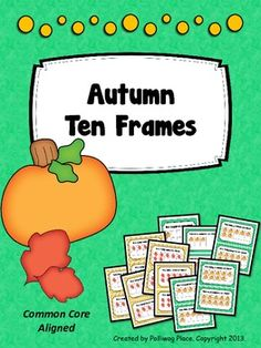 Autumn Ten Frame Set - Counting Numbers 1-10 ($)