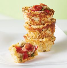 GF Mini Cauliflower Bites - Calories: 30,Protein: 3g,  Carbohydrate: 1g, Saturated Fat: 1g, Cholesterol: 15mg, Sodium: 85mg, Dietary Fiber: 0g,Sugar: 1g Fat: 1.5g, Trans fats: 0g. - *Additional Tomato Pizza Dipping Sauce Recipe available*