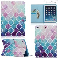 for #apple #ipad air colorful leather magnetic flip wallet stand case smart cover from $11.99