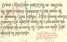 I lambi yåri - I laim ioer: Middle Sindarin tengwar transcription: Lûna i ngœlydh dœllir na Eglamar aran Thingol avabed i lam annûn ar si iuithanner i lam Thindrim.     Heithl channer, meigl lanner, i lû ghalant eniaur ar i lam annûn aba-leithant iuith mi ennor ar i lam en-gwaith thind ghalant ar prestant.     Si-lû im, Lothenon o ndôr im duin odog, teithon hen adh rîn e-laim andrann mhinui.
