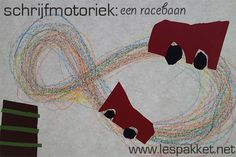 schrijfmotoriek-racebaan (leuk in het kader van de kinderboekenweek!) - Lespakket Kindergarten Science, Preschool, Form Drawing, Brain Gym, Learning Numbers, Too Cool For School, Sensory Activities, New Opportunities, Occupational Therapy