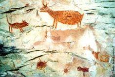 006 - Pintura rupestre no painel da Pedra Pintada em Barão de Cocais - MG