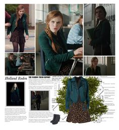 """""""Holland Roden as Lydia Martin. {Teen Wolf - 6.02 Superposition}"""" by albacampbell ❤ liked on Polyvore featuring Vince Camuto, Samsøe & Samsøe, Sun & Shadow and Wildflower"""