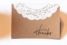 Personalized Rustic Thank You Cards with by AestheticJourneys, $11.25