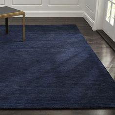 Baxter Indigo Blue Wool Rug
