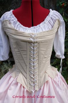 2266e04458 Marie Antoinette 18th Century Stays Corset von CorsetsandCostumes 18th  Century Stays