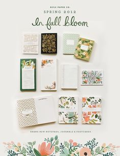 Rifle Paper Co. Spring 2012 line—love those market and to-do lists!