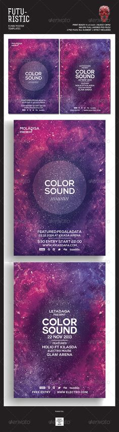 Space Music - Flyer Template Music flyer, Flyer template and - music flyer template