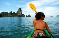 Kayaking in Thailand while backpacking through southeast Asia.