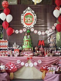 Little Red Riding Hood 1st Birthday Party Full of Really Cute Ideas via Kara's Party Ideas KarasPartyIdeas.com #littleredridinghoodparty #1stbirthdayparty #partyideas