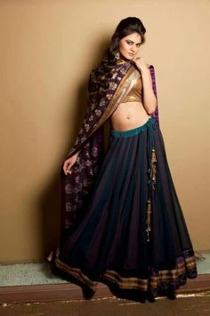 Navy lehenga #lehenga #choli #indian #hp #shaadi #bridal #fashion #style #desi #designer #blouse #wedding #gorgeous #beautiful