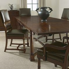 Vintage-patina-leather-dining