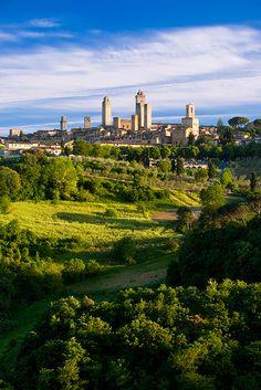 Towers of San Gimignano, Siena province, Tuscany region. Italy