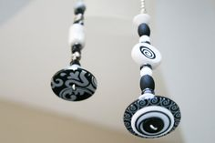 TWO Light Pull / Ceiling Fan Pull / Black and White  / by Funktini