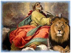 ORACIONES PODEROSAS : ORACION DEL PENSAMIENTO A SAN MARCOS DE LEON Santa Lucia, Occult, Lion, Prayers, Angel, Painting, Animals, Witchcraft, Style