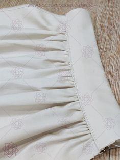 Costura paso a paso: Cómo fruncir tela fácilmente. – Nocturno Design Blog Design Blog, Historical Clothing, White Shorts, Crochet, Ballet, Manga, Women, Fashion, Sewing Hacks
