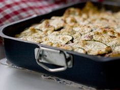 Vegetarisk lasagne med aubergine och feta