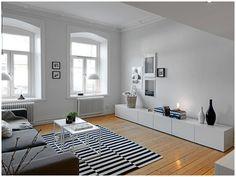 Calming, clean, minimal and modern interior.