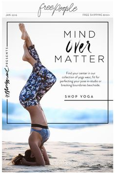 Ad Design Email Layout Print Graphic Yoga Posters Fitness Postcard Newsletter