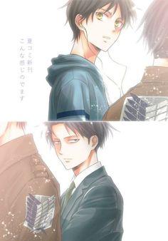 Shingeki no Kyojin - Eren Jager, Levi
