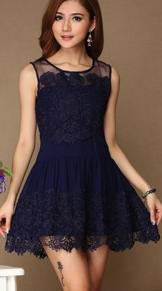 Flower lace dress--for my girls? Cute color! About $50