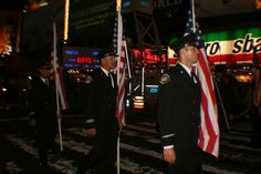 San Miguel/Heartland Fire Fighters from San Diego honored the fallen during a ceremony in Times Square on 9/11/11. - Photo by Amy Laurel Hegy @A Tale of Two Tramps