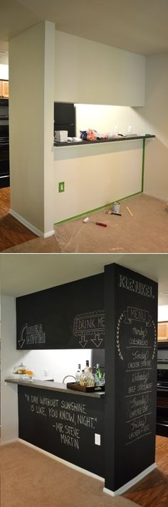 Handmade Chalkboard Kitchen Wall