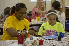 Crafts! #painting #plasterofparis Camp Victory (Alabama) campvictoryal.org summer camp