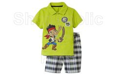 Jake and the Neverland Pirates Polo Shirt & Shorts .  Color: Green .  Size:  12m . To order: http://www.shopaholic.com.ph/#!/Jake-&-the-Neverland-Pirates-Shorts-Set-Green/p/30500722