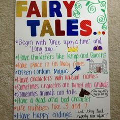 Fairy Tale facts for our fairy tales unit!