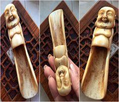 Folk collection Chinese Buddha Tea spoon. 140mm. IG