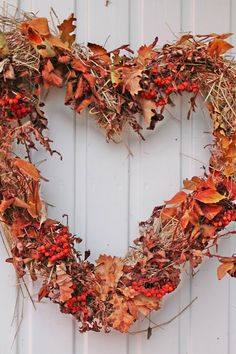 Fall Heart Wreath