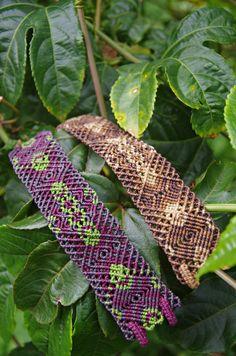 Macrame trance earth bracelets