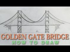 How to draw the Golden Gate Bridge EASY - San Francisco landmark - YouTube