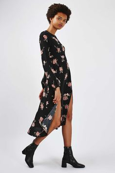**Long Sleeve Floral Midi Dress by Nobody's Child - Dresses - Clothing - Topshop
