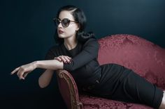 """Dita Von Teese Stars in DITA Eyewear's Fall 2013 """"Legends"""" Campaign 