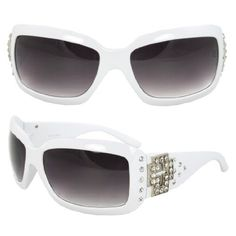 MLC Eyewear TU9179WHTPB Rectangle Fashion Sunglasses White Frame Enchanted with Rhinestone Purple Black Lenses. MLC Eyewear. $12.99. Extremely stunning and stands out fashionably.. Smart design to fit your face curve. Absolute comfort for everyday wear.. Lens 70mm x Bridge 20mm x Arms 120mm. UV400 Lens Technology, absorbing over 99% of harmful UVA and UVB spectrums.. FREE 1x leather protective pouch & FREE 1x micro fiber cloth. Save 69%!