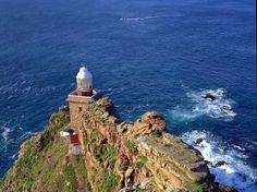 Cape Town's Cape Point is 'Where Two Oceans Meet'. Attractions include Cape Point Lighthouse and the Flying Dutchman funicular Visit South Africa, Cape Town South Africa, Two Oceans Meet, Nc Lighthouses, Audley Travel, Victoria Falls, World Heritage Sites, Heritage Month, Exotic Places