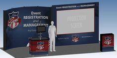 My Custom Event Tradeshow Projection Screen Display