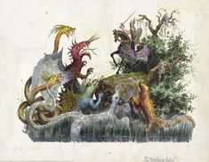 Carlotta Bonnecaze - Wolfdietrich - the Moorland Lake, float design from Krewe of Proteus, 1888