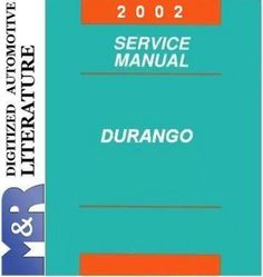 2002 Dodge Durango Original Service Manual PDF format suitable for Windows XP, Vista, 7 , DOWNLOAD