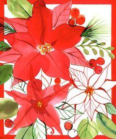 Margaret Berg Art: Christmas Pointsettias