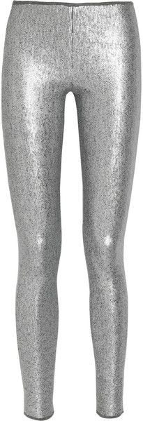 Donna Karan New York - Sequined jersey leggings-style pants Silver Sparkly Shoes, Leggings Fashion, Leggings Style, Sparkly Leggings, The Decemberists, Crazy Pants, Givenchy Boots, Pull On Pants, Donna Karan