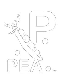 Alphabet Coloring Pages Letter P