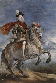 """Equestrian Portrait of Philip III of Spain"" - Diego Velazquez Spanish Painters, Spanish Artists, Art Espagnole, Diego Velazquez, Baroque Art, Oil Painting Reproductions, Equine Art, Horse Art, Oeuvre D'art"